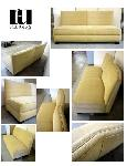 Curved Back Slipper Sofa